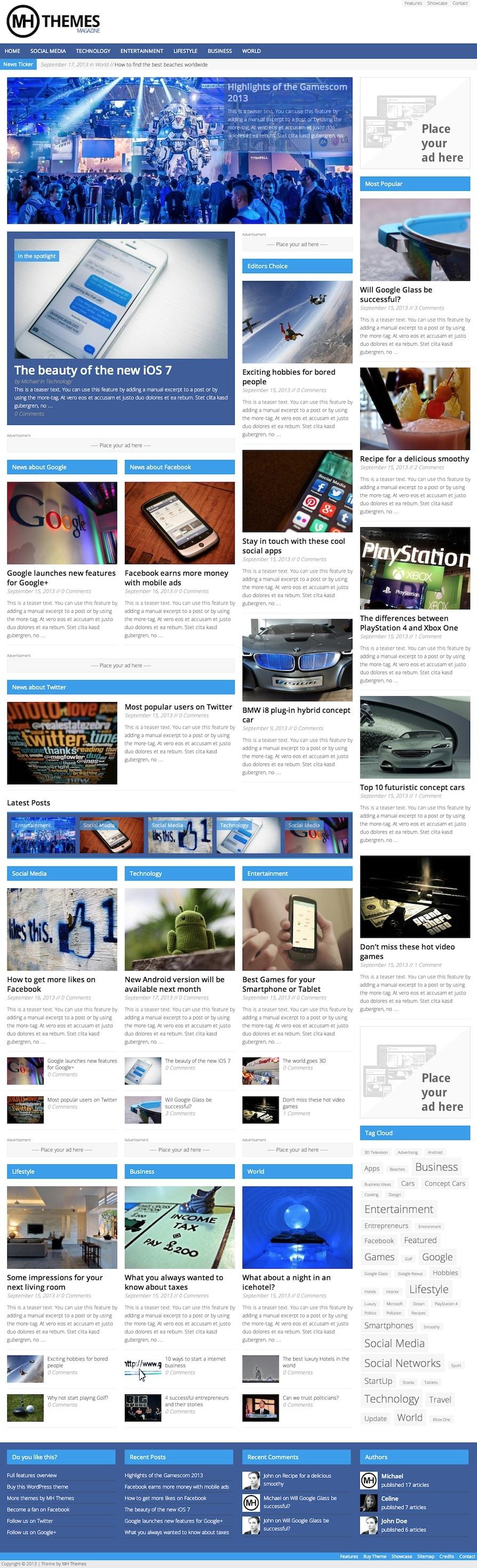 Google themes bmw - Mh Magazine Wordpress Theme Demo 2
