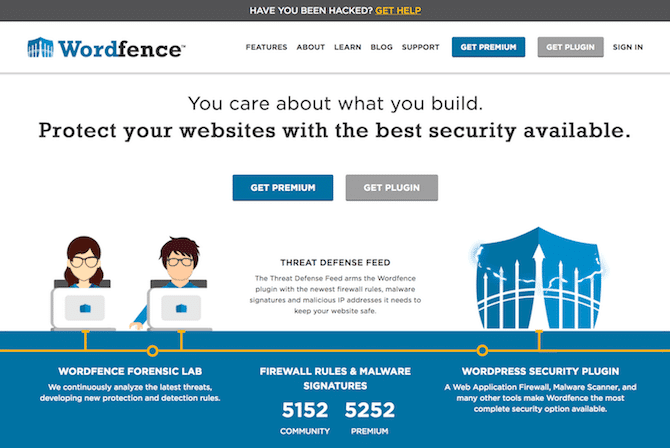 Wordfence Homepage