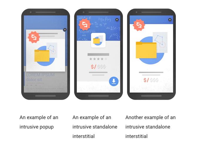 Examples Insterstitials Google