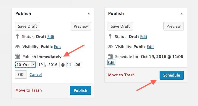 Content Scheduling