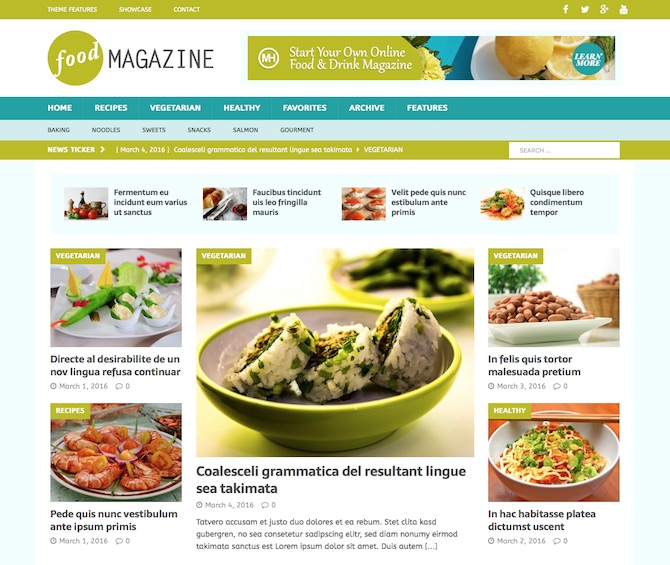 MH Magazine - Food Content