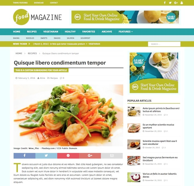 Food blogger how to create a food blog or recipe website with mh magazine food forumfinder Gallery