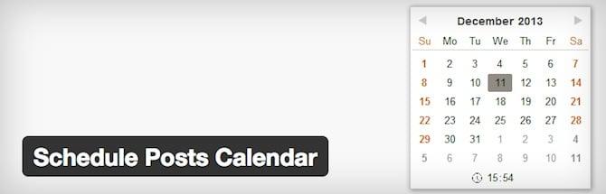 Schedule Posts Calendar