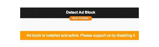 Ad Blocker Notice