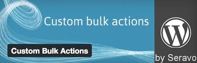 Custom Bulk Actions
