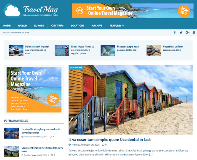 Travel Website with WordPress