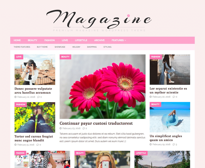 Feminine Blog with MH Magazine