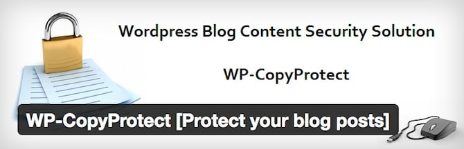 WP CopyProtect Plugin