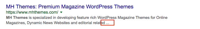 SERP Ellipsis