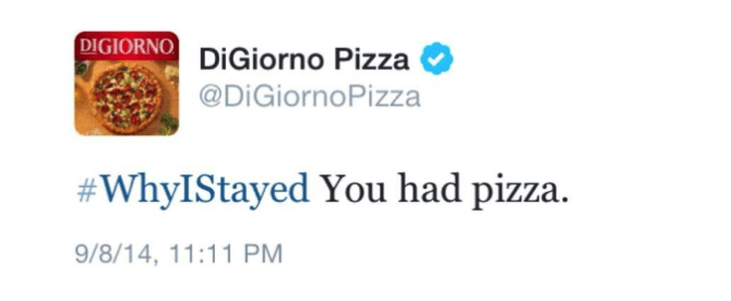 DiGiorno Hashtag Fail