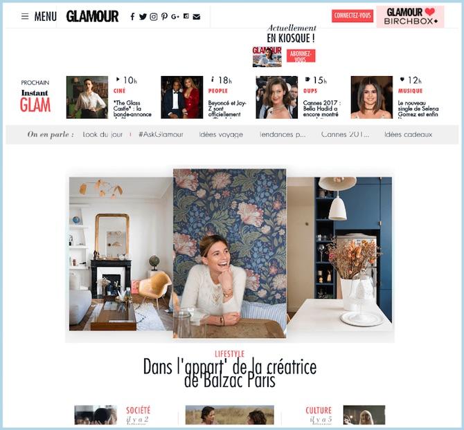 Glamour Paris Magazine