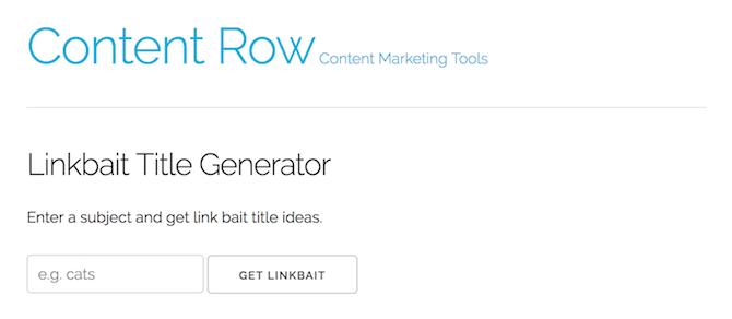 Link Bait Title Generator