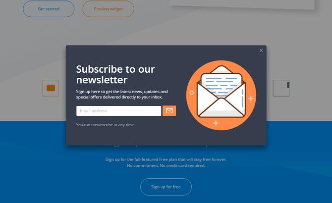 GetSiteControl Subscribe Widget