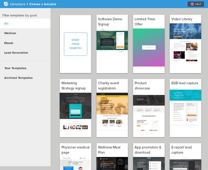 SendinBlue Landing Pages